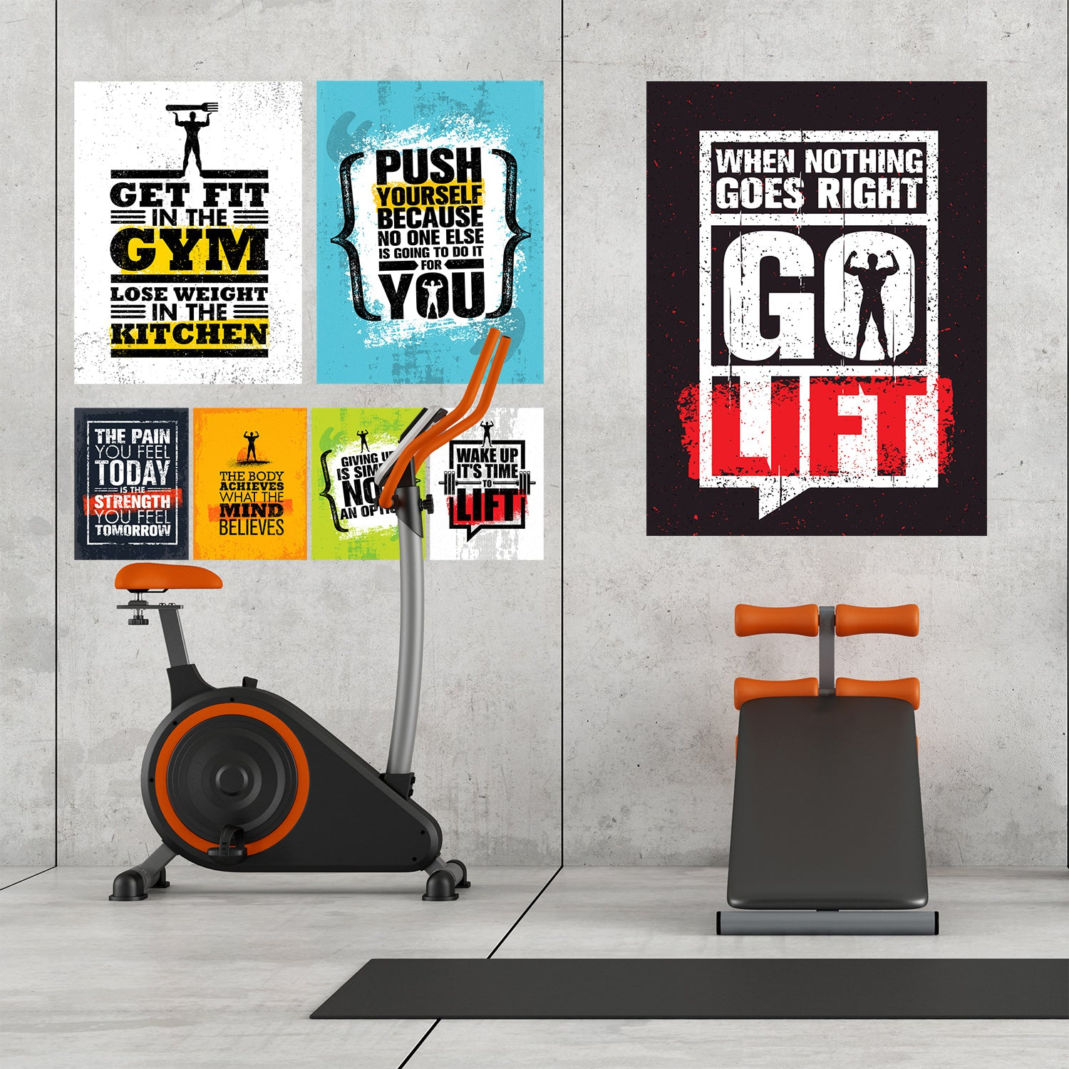 Fitness Inspiration & Gym Motivation Posters