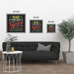 Ezposterprints - Dad! You Are My Super Hero, I love you so much | Father's Day Posters ambiance display photo sample