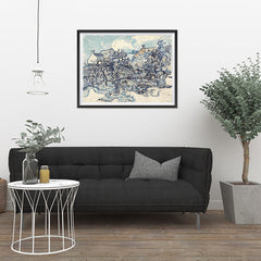 Ezposterprints - Old Vineyard With Peasant Woman | Van Gogh Art Reproduction - 32x24 ambiance display photo sample
