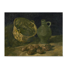Ezposterprints - Still Life With Brass Cauldron And Jug | Van Gogh Art Reproduction