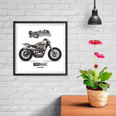 Ezposterprints - The Scrambler Vintage Chopper - 10x10 ambiance display photo sample