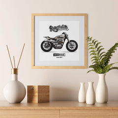 Ezposterprints - The Scrambler Vintage Chopper - 12x12 ambiance display photo sample