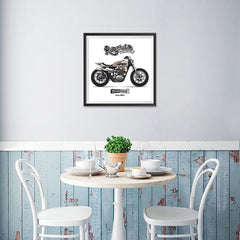 Ezposterprints - The Scrambler Vintage Chopper - 16x16 ambiance display photo sample