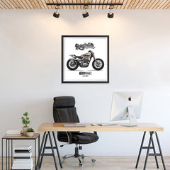 Ezposterprints - The Scrambler Vintage Chopper - 24x24 ambiance display photo sample