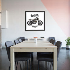 Ezposterprints - The Scrambler Vintage Chopper - 32x32 ambiance display photo sample