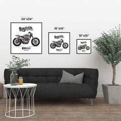 Ezposterprints - The Scrambler Vintage Chopper ambiance display photo sample