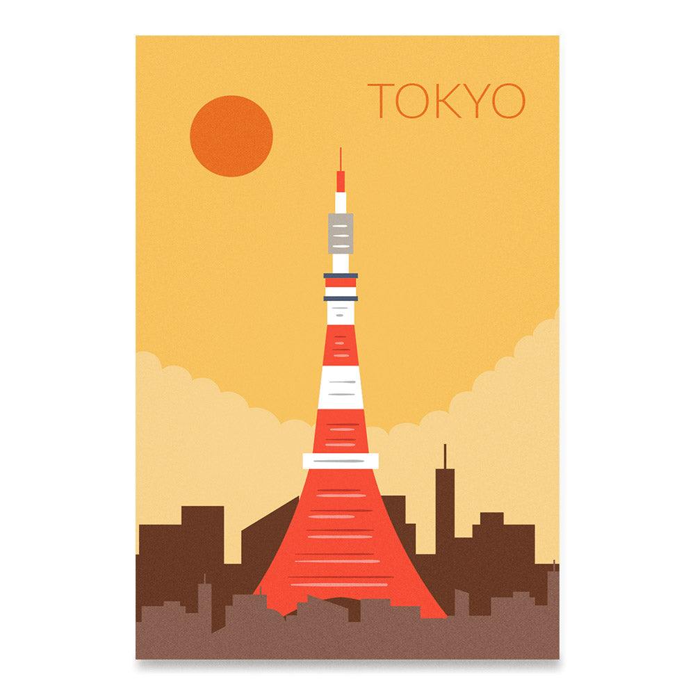 World Cities Retro Posters: Tokyo