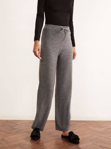 Matilda Grey Merino Wool Trousers by KITRI Studio