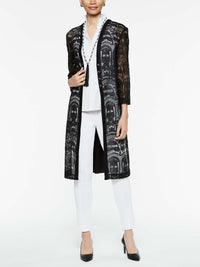 Lace and Knit Duster Color Black