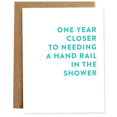 Hand Rail In The Shower Card