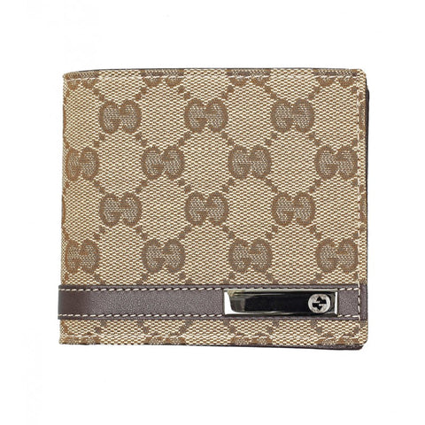 Beige & ebony original GG canvas wallet - Profile Fashion
