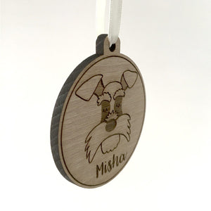 Personalised Wooden Dog Christmas Decoration  - Hoobynoo - Personalised Pet Tags and Gifts
