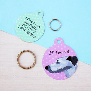 Lurcher Personalised Dog ID Tag  - Hoobynoo - Personalised Pet Tags and Gifts