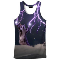 LIGHTNING CAT TANK TOP