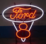 Ford V8 Red and White Neon Sign