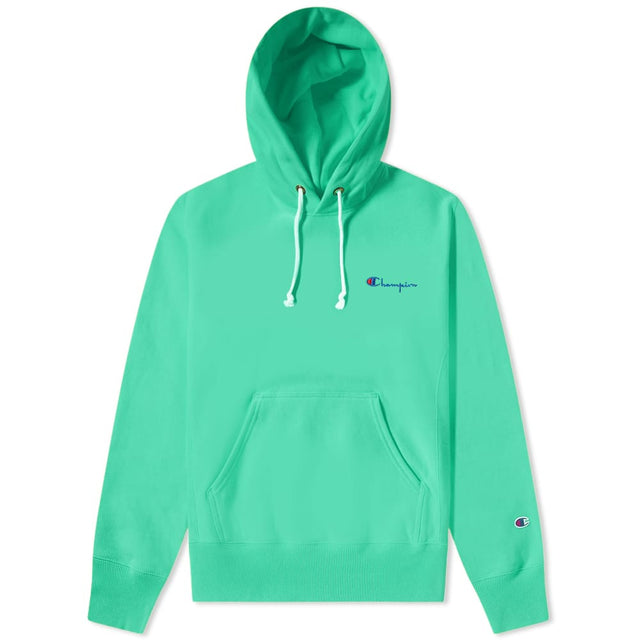 Champion Reverse Weave Small Script Logo Hoodie Peppermint