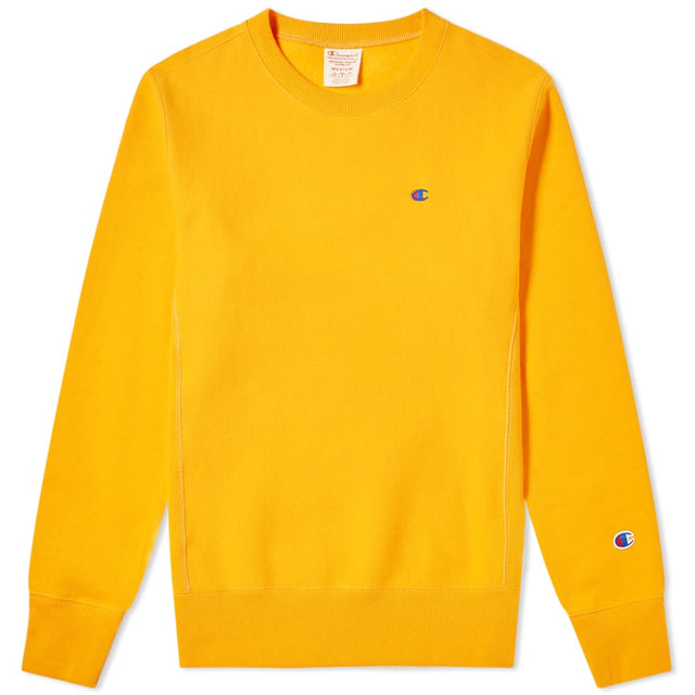 Champion Reverse C Logo Crewneck Sweatshirt Fluo Orange