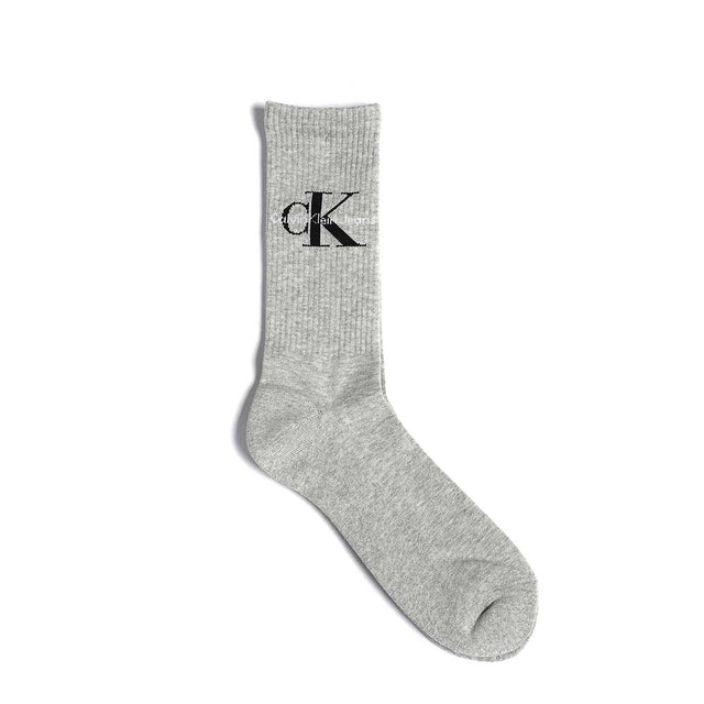 Calvin Klein Jeans Logo Rib Socks Oxford Heather ECD261
