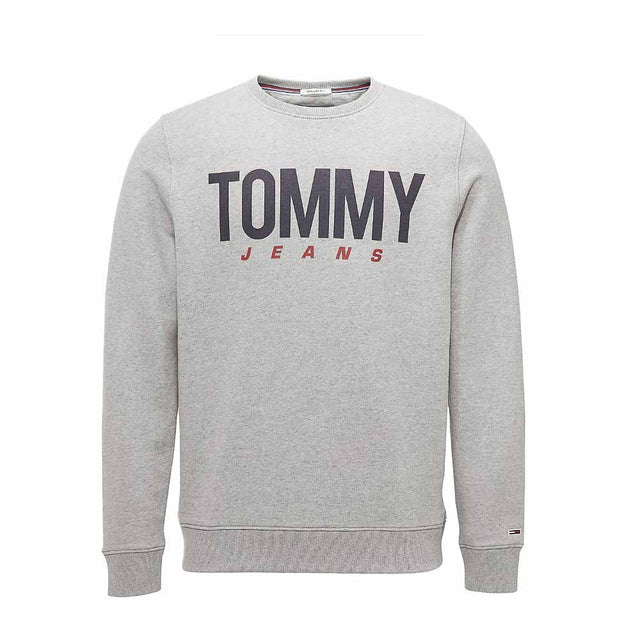 Tommy Jeans Essential Logo Crew Neck Sweatshirt Grey DM0DM06291