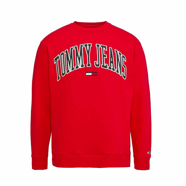 Tommy Jeans Collegiate Logo Women's Red Sweatshirt  DW0DW06050