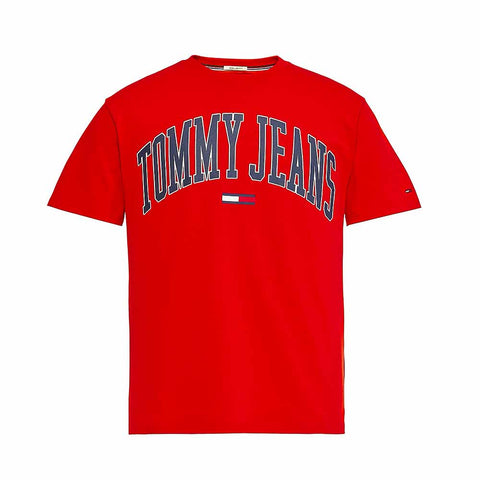 Tommy Jeans Collegiate Logo T-shirt Red DM0DM05569