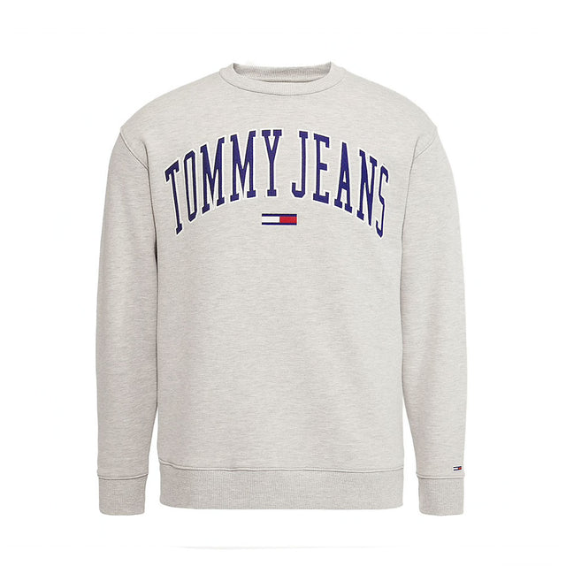 Tommy Jeans Collegiate Logo Women's Grey Sweatshirt  DW0DW06050