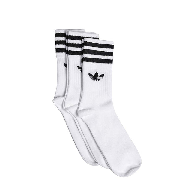 adidas Originals Solid  Crew Socks White/Black S21489