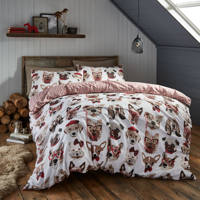 Catherine Lansfield Dapper Dogs Duvet Cover Set