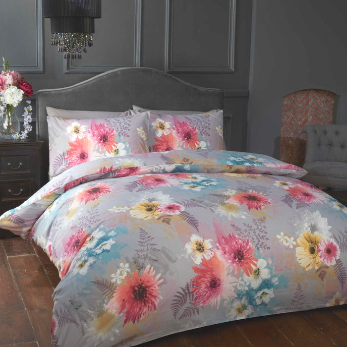 Rapport Grey Midnight Garden Duvet Cover Set