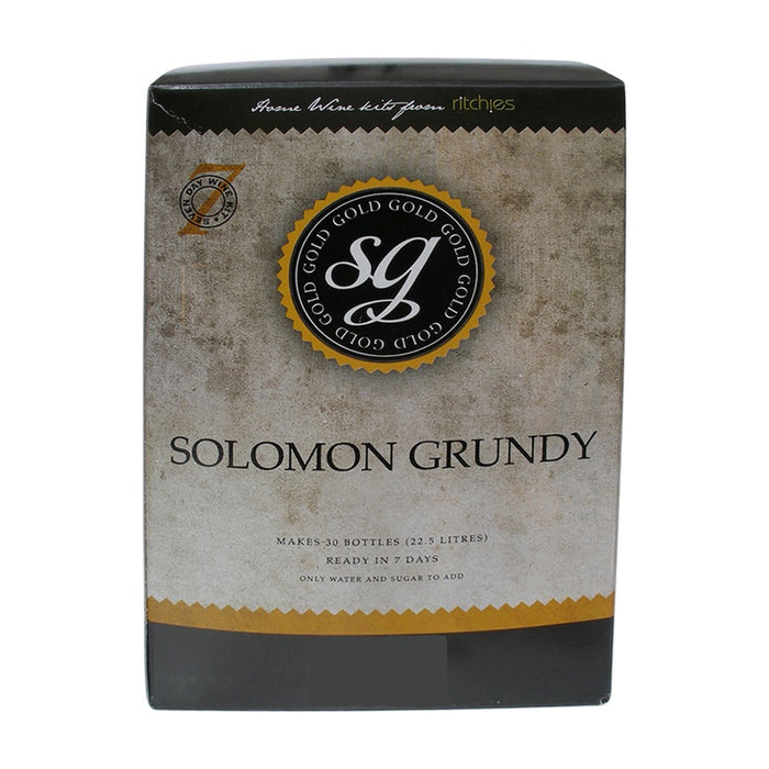 Solomon Grundy Gold - Sauvignon Blanc - 30 Bottle Wine Kit