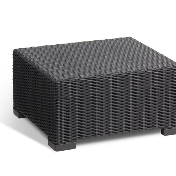Poly Rattan Table - Graphite Grey