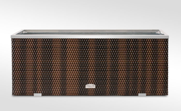 Brackenstyle Exclusive Rattan Rectangle Planter - Brown Weave