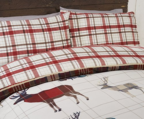 Rapport Multi Stag Flannelette Duvet Cover Set - Single