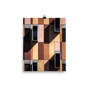 Geometric brown print