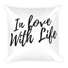 In love with life white cushion - Pretty Ventura