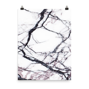 Classic marble white and black print