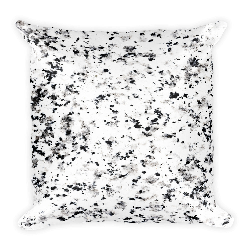 Classic marble black and white speckled cushion