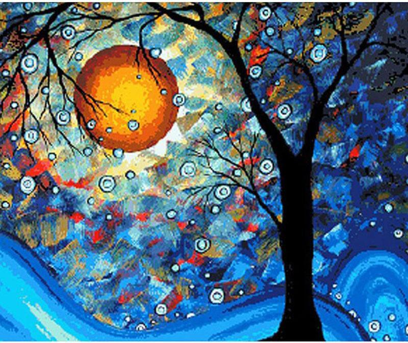 Abstract Tree in Moonlight