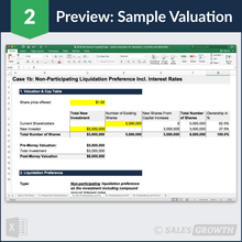 Venture Capital Deal Pre-Money and Post-Money Valuation Sample