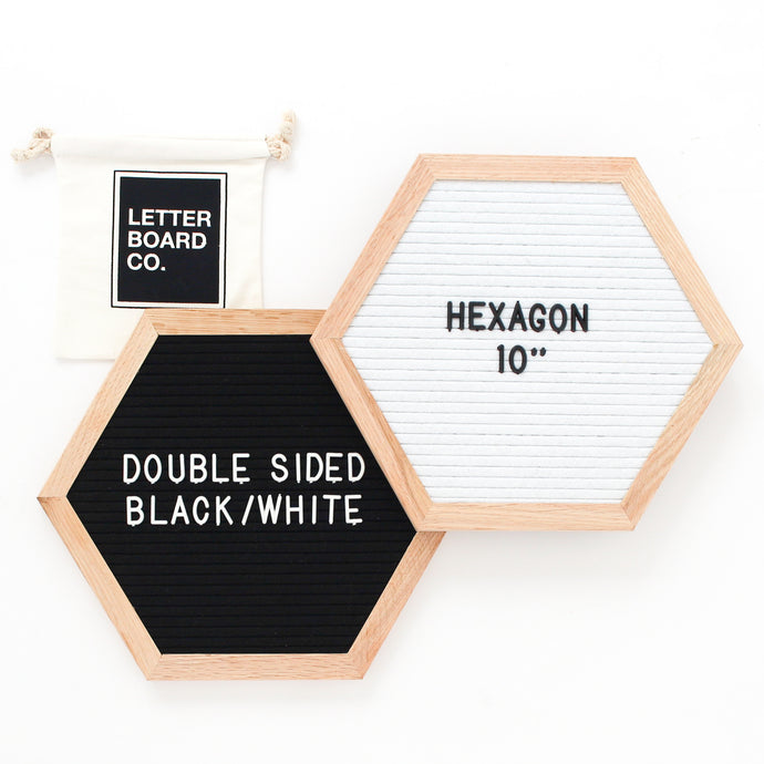 Double Sided Introvert Hexagon - Black & White