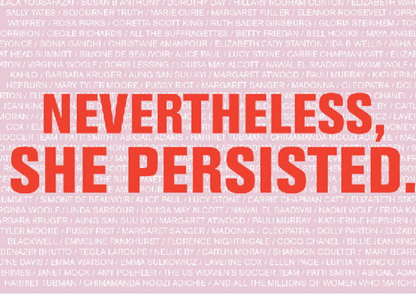 "Free ""Nevertheless, She Resisted"" Postcard"