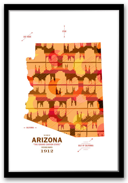 Personalized Arizona Map Print Poster