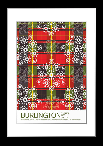 Burlington, Vermont Travel Poster