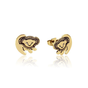 【新品上市-07/26出貨】Couture Kingdom | Disney Jewellery 迪士尼獅子王辛巴鍍14K金耳釘