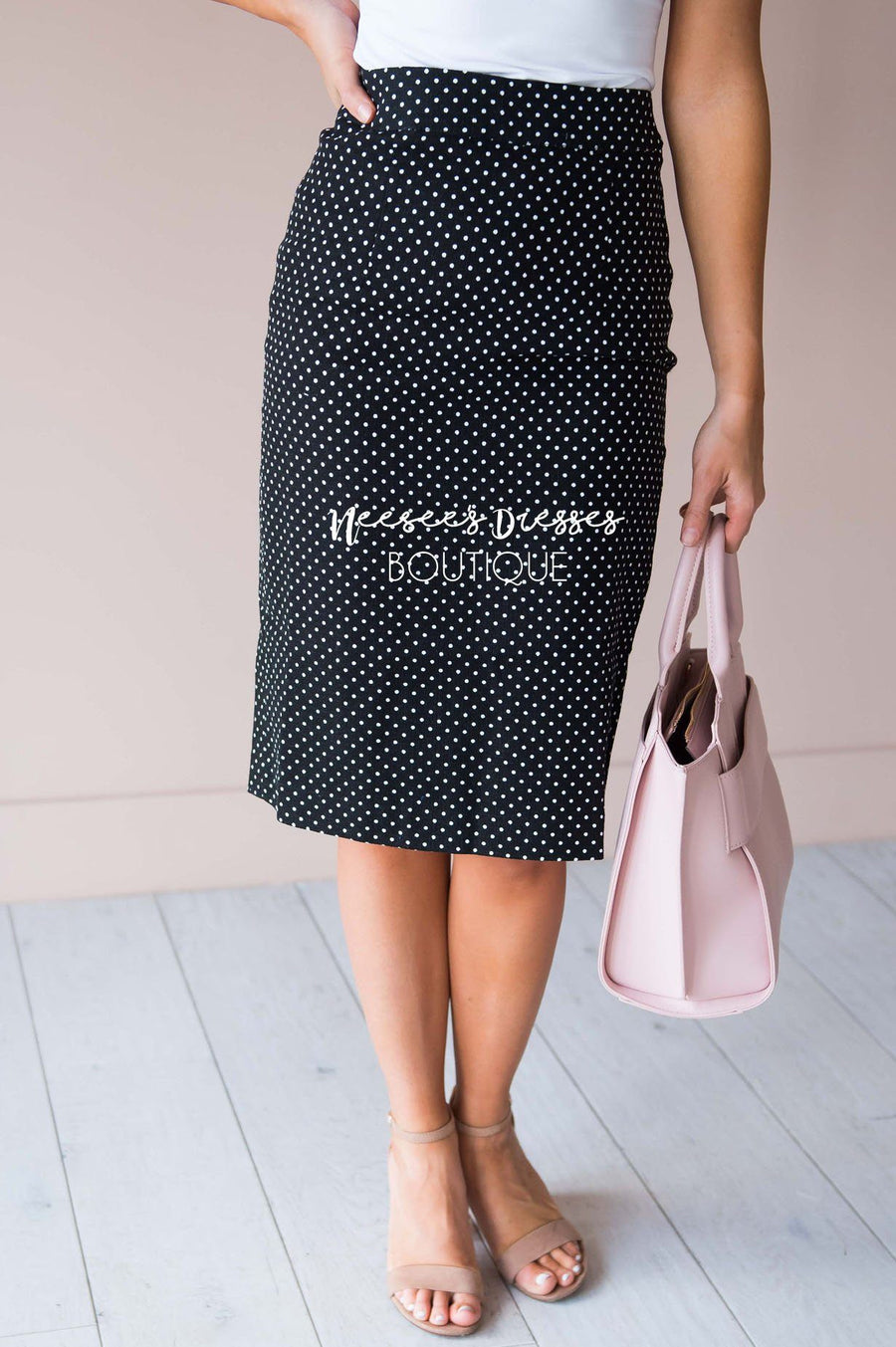 Secret Garden Textured Pencil Skirt