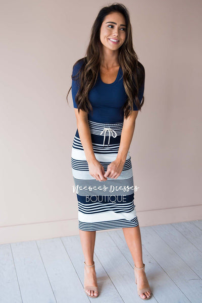 Start Somewhere Striped Skirt Modest Dresses vendor-unknown