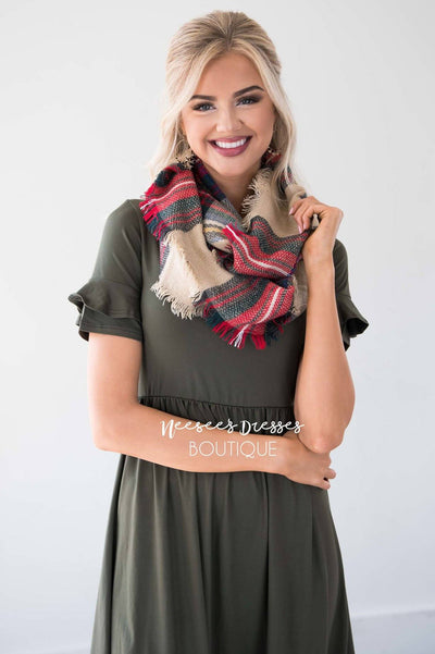 Autumn Stroll Plaid Infinity Scarf Accessories & Shoes Leto Accessories