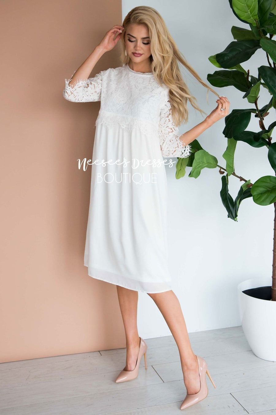 The Brynn - Nursing Friendly Modest Dresses vendor-unknown