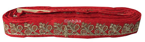 lace trim fabric trims in fashion Material-Red-Embroidery-Sequins-2-Inch-Wide-3281
