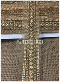lace trim fabric designer fabric trim for garment wholesale suppliers Beige-Embroidered-Stone-2-Inch-Wide-
